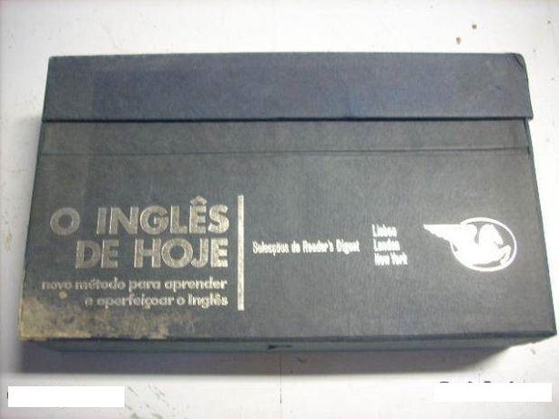 """Curso de Inglês """"O INGLÊS DE HOJE"""", com 40 discos em vinil"""
