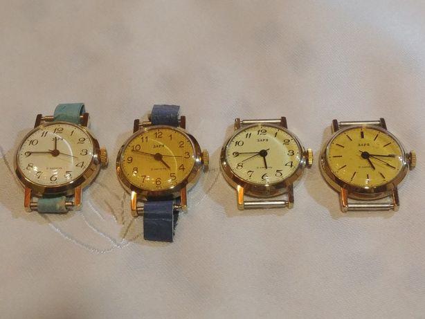 Zegarki damskie Zaria złocone 4 wzory stan sklepowy idealny prezent