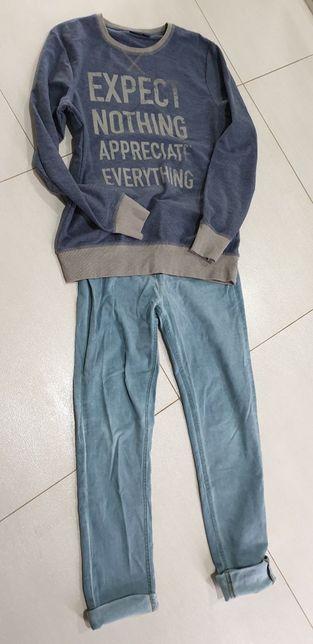Reserved spodnie 170cm rurki plus bluza