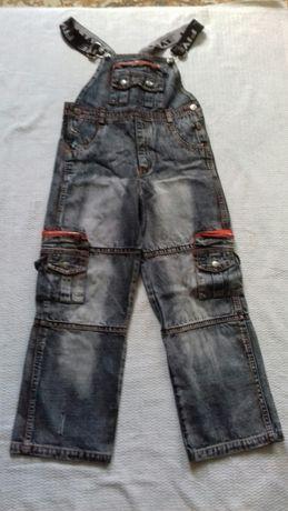 Супер джинсы комбинезон на подтяжках детский на рост 150 см