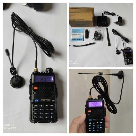 Rádio + Antena íman carro Baofeng UV 5-r PMR 446 Walkie Talkie VHF UHF