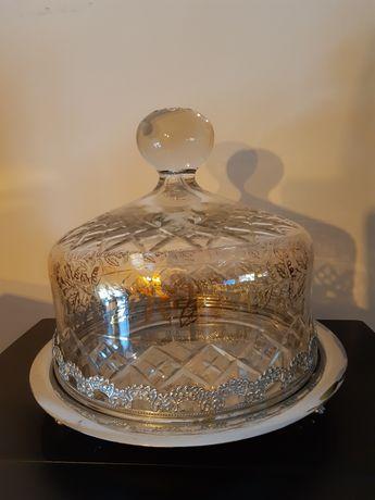 Grande queijeira em Cristal e base em inox