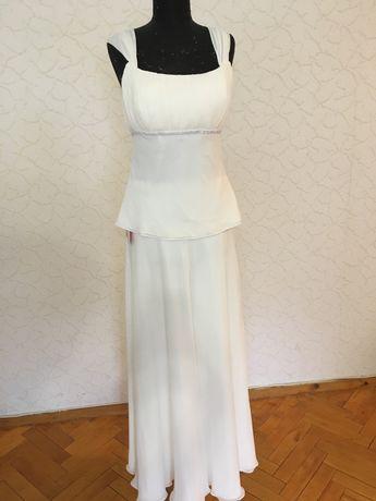 Весільне плаття, вечірнє плаття, нарядне плаття+шубка