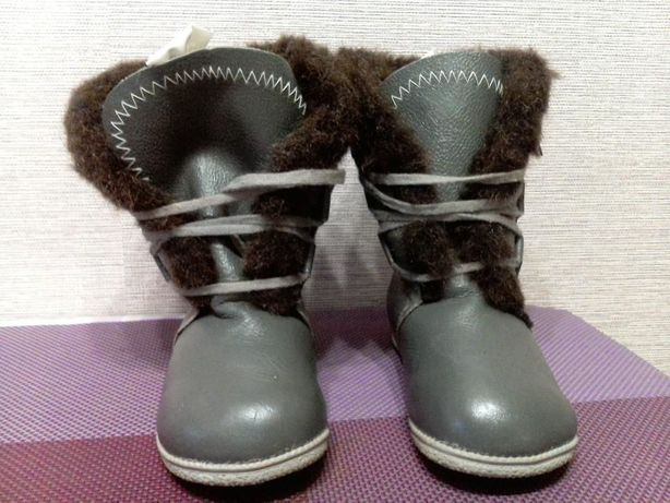 Сапоги зимние кожаные новые