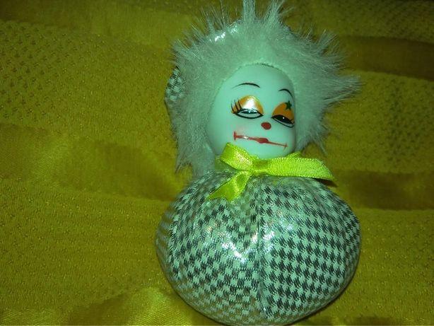 игрушка кукла клоун лицо-керамика сам тяжелый может песок германия