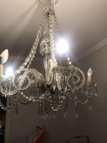 Candeeiro lustre cristal de sala