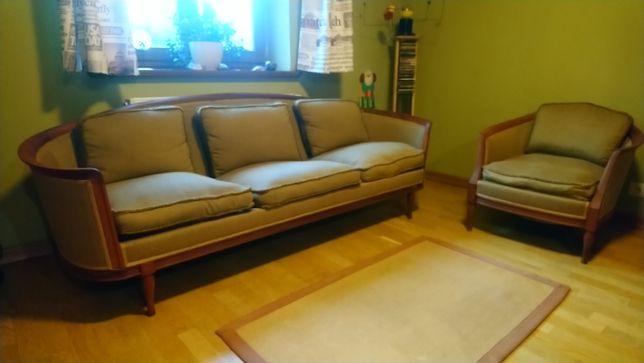 Sofa + fotel antyk