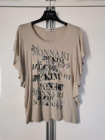 Elegancka, beżowa bluzka, Monnari roz. 36