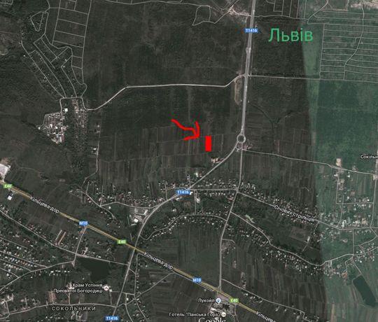 Земля ділянка під забудову біля Львова Сокільники