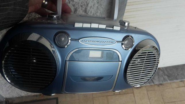RADIO CEDES+Cassetes Stereo Portátil Eléctrico. 3 Fotos