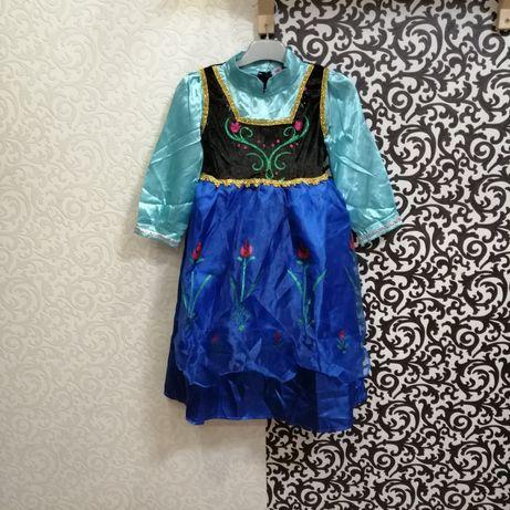 Карнавальный костюм платье Анна Холодное Сердце Крижане серце Frozen