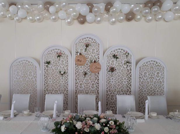 Ścianka ażurowa ślubna 2,4 x 4 m