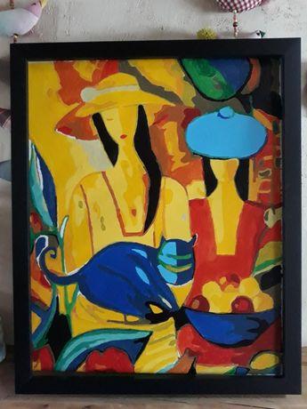 Obraz malowany recznie akrylem 50x40