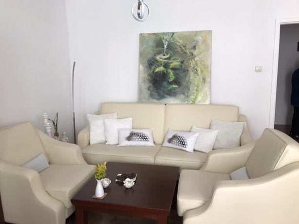 Komplet wypoczynkowy sofa + 2 fotele stan idealny