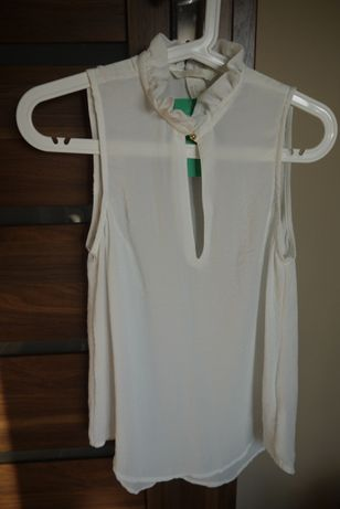 Elegancka bluzka ecru biała H&M. Nowa z metką. Rozmiar 34/36.