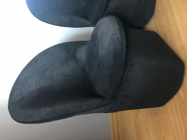 Pufa z oparciem fotel czarny