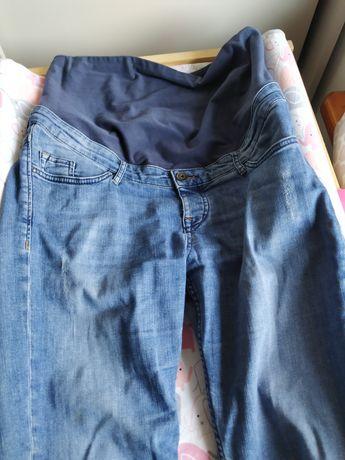 Spodnie, jeansy ciazowe h&m typu boyfriend cut, rozmiar 40