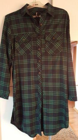 Tunika sukienka w kratę M/L