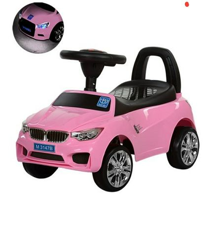 Продам машину толокар Bambi  розовое BMW машина для девочки