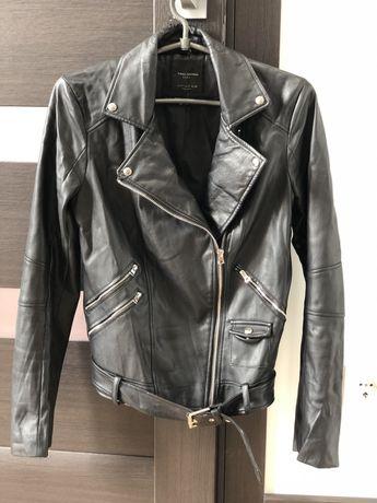 Куртка ZARA из эко кожи, косуха