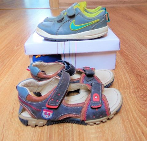 Lasocki Skórkowe sandałki r.27 dł.wkł.17cm +Nike