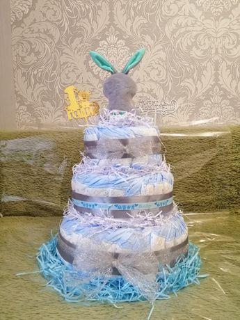 Торт з підгузників, торт с памперсов