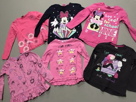 Komplet 6 bluzeczek - roz.116 Myszka Disney