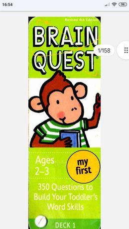 Карточки для изучения английского языка Brain Quest