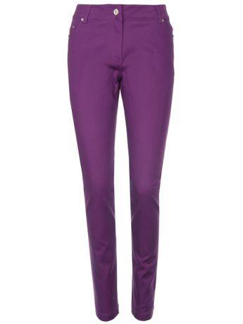 Spodnie długie damskie wąskie 38 M Fioletowe