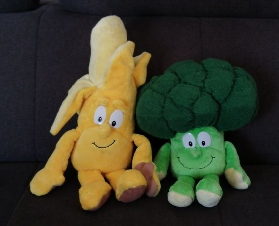 Peluches / Bonecos Lidl (Banana e Brócolo)