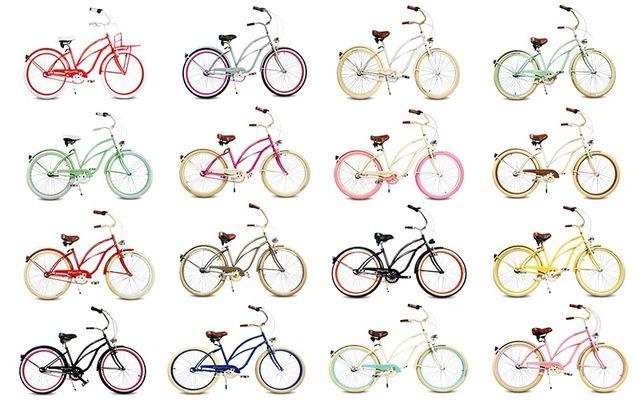 Rower miejski beach Cruiser 26cali Różne rodzaje NOWY damski lub męski