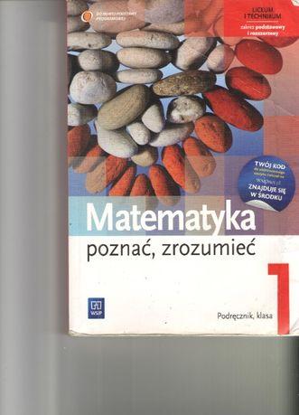 Matematyka Poznać, zrozumieć 1 Podręcznik Zakres podstawowy i rozszerz