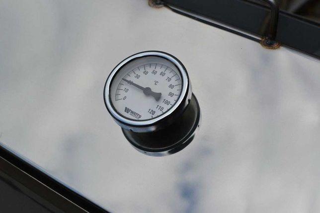 Нержавеющая коптильня для горячего. Размер 46*26*26 см., с термометром
