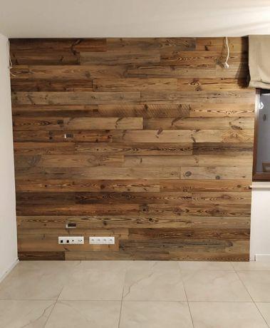 Stare drewno belki deski ze stodoły na ścianę meble rustykalne wysyłka