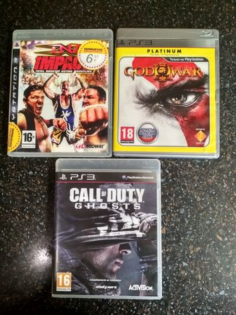 Gog of war 3 ,  call of duty GHOSTS,  TNA IMPACT, PS3