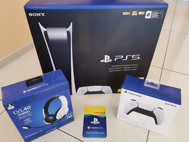 Oddam rezerwacje PlayStation 5 PS5 Digital drugi pad słuchawki ps plus