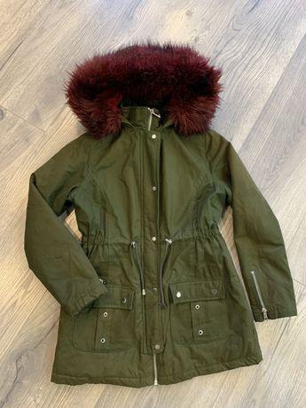 Парка пальто для девочки 10-11 лет 134-140 см