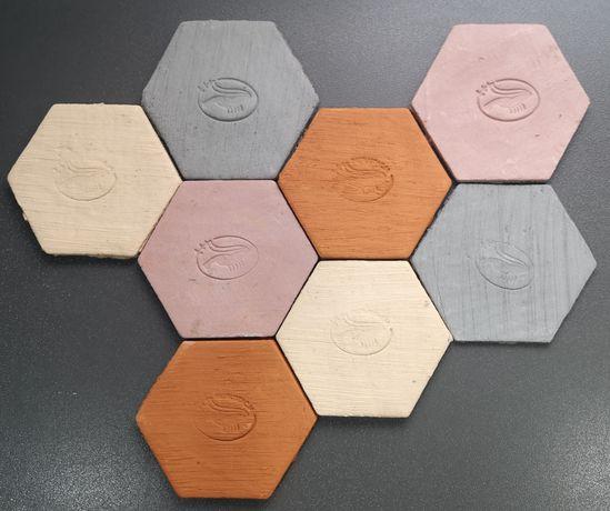 Płytka heksagon do mchów, fissidensów - różne kolory