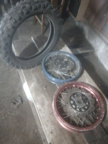 Rodas e depósitos Pitbike 125cc
