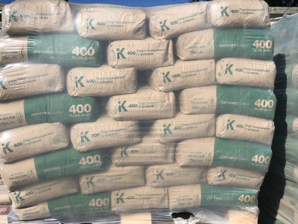 Цемент 400 500/Щебень / Песок / Отсев