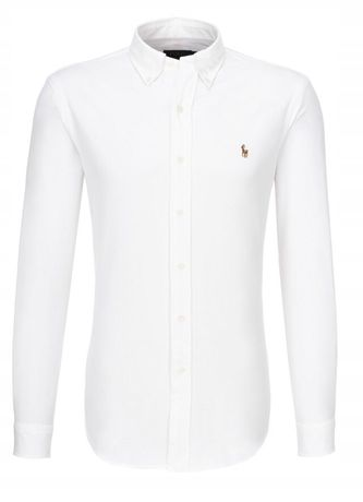 Koszula RALPH LAUREN oxford biała niebieska różowa wyprzedaż S M L XL