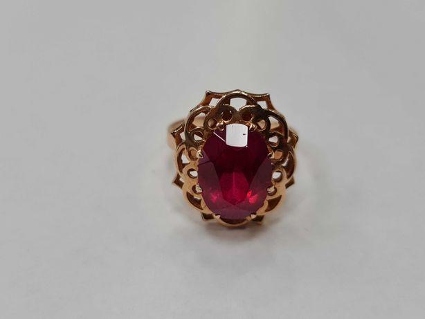 Wiekowy! Piękny złoty pierścionek/ Radzieckie 583/ 6.60 gram/ R17