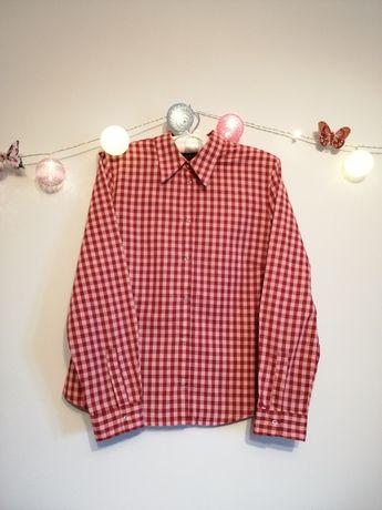 Koszula w kratę, Mexx rozmiar 40 czerwień z  jasnym różem