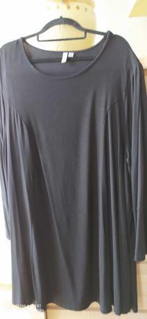 Sukienka firmowa ASOS, czarna, wyszczuplające pionowe szwy, rozmiar 52