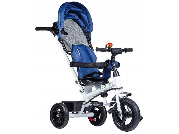 Rower rowerek trójkołowy wózek jeździk BLUE # JM-068-11H
