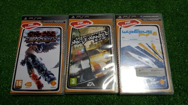 Gry PSP NFS most wanted Tekken vipeuot