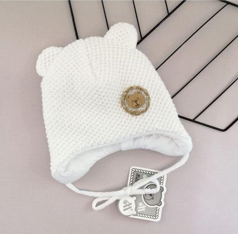 Зимняя шапка для новорождённого