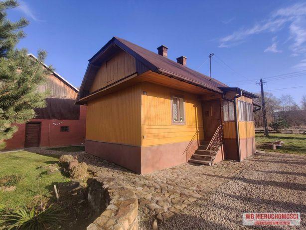 Drewniany, zadbany, dom jednorodzinny 60m2 w miejscowości Wyżne