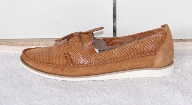 OCHNIK SKÓRA KOZIA buty trampki tenisówki slip on baleriny skórzane 39