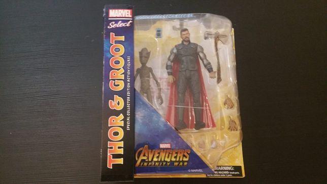 Marvel Select - Thor & Groot Nova e Selada